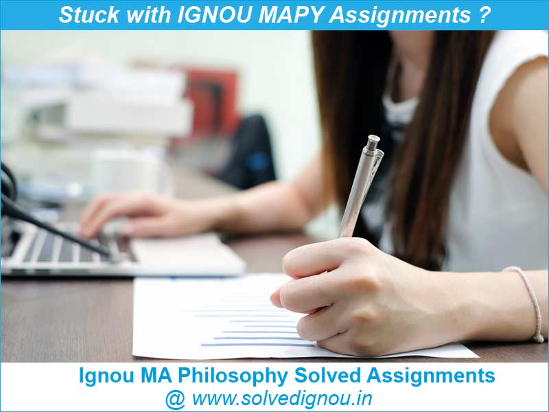 ignou ma philosophy solved assignments