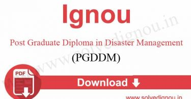 IGNOU PGDDM Solved Assignment